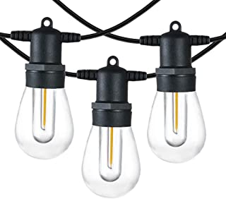 SUNTHIN 96FT LED Outdoor String Light with Shatterproof LED Filament Bulb for Patio Lights, Backyard Lights, Porch Lights,...