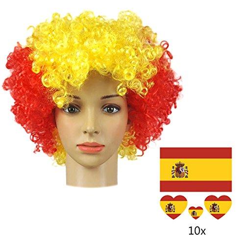 Peluca España Bandera Nacional Color...