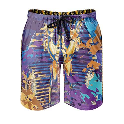 Ktewqmp Zomer zwembroek Altaïaans goud mannen zwembroek zwembroek met zakken Hawaiiaans