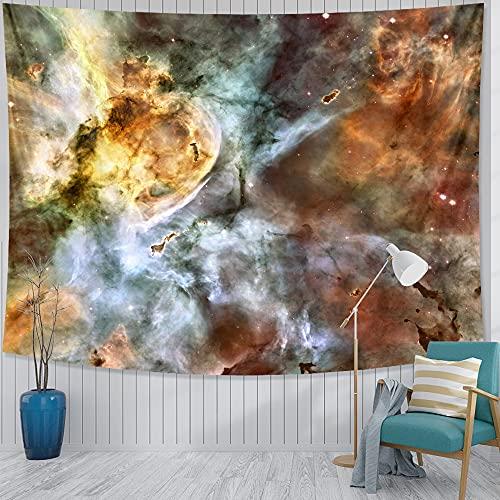 RGFIJP tapizTapiz artístico Grande con Estampado de Nebulosa Espacial, Manta de Pared psicodélica para Colgar en la Pared, Toalla de Playa con Mandala, Manta Fina para Yoga
