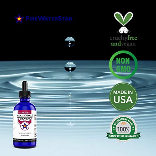 Colloidal Silver - Ionic Clear - 4oz - 50ppm - Silver Drops for Daily Immune System Support