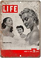 Life Magazine August Bubble Bath Girls ティンサイン ポスター ン サイン プレート ブリキ看板 ホーム バーために