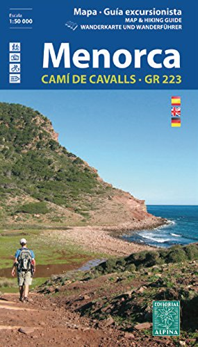 Menorca. Camí de Cavalls. GR-223. Escala 1:50.000. Mapa excursionista. Español, English, Deustch. Alpina editorial (Guias De Senderismo)