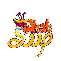 Jinling 面白い漫画の蛇の車のステッカービニール動物の車のステッカー車の窓のモーターステッカー13x13cm (Color : 1)