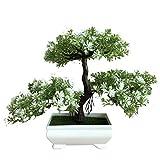 Bienvenido Pine Bonsai Tree, Artificial Bonsai Árbol, Simulación Plant Flower Bonsai Árbol Set, Plantas Bonsái Simulación Decoración Del Hogar Para Jardines Escritorio Escritorio De Oficina