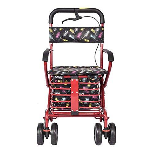 XXGI Carro De Compras para Ancianos Carro para Andadores Ancianos Vehículo Recreativo Carro De Compras para Supermercado Andador Plegable Andador Anciano Y Ayudante para Caminar Y Caminar