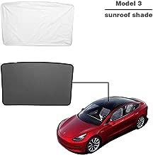 TOPlight Tesla Model 3 Glass Roof Mesh Sunshade/Overhead Roof Sunshade Auto Sunshade, Custom-Fit Roof Window Sunshades Compatible Tesla Model for Tesla Model 3 (1 Front of Set, Black)