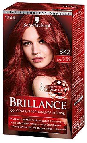Schwarzkopf - Brillance - Coloration Cheveux Permanente Intense - Rouge Cachemire 842