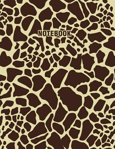 Notebook: Brown Leopard Print Background, Wide Ruled Lined Paper, Notebook for Teachers, Students, Work Office, | 8.5x11 Inches 120 Pages