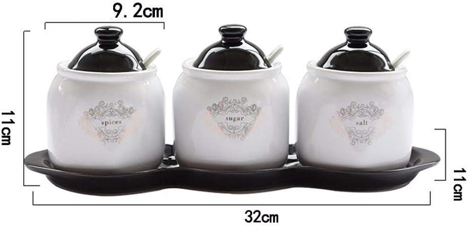 pot dassaisonnement /à condiments de sucre de sel d/épice durable en acier inoxydable MAGT Silver avec couvercle pivotant Bo/îte /à /épices