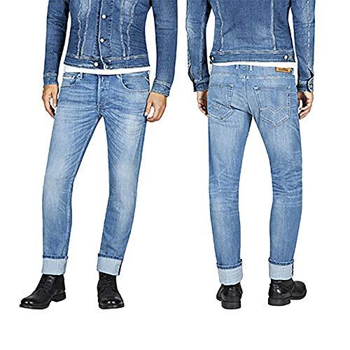 Replay Herren Grover Straight Jeans, Blau (Medium Blue 9), 31W / 30L