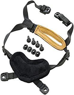 DOChoice Airsoft Tactical Helmet Retention System Chin Strap with 4 Bolts and Screws for Fast ACH MICH IBH Helmets Black