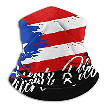 Puerto Rican Flag - Grunge design Neck Gaiter Warmer Face Mask for Men Women Skiing Reusable Bandanas