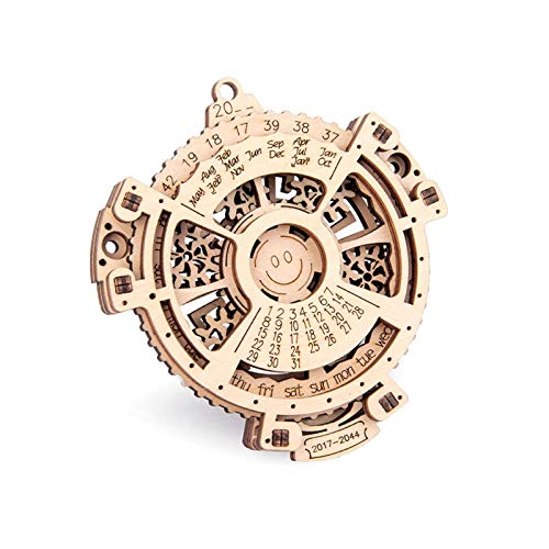 Dent 3D Puzzle Holzpuzzle,Perpetual Calendar 3D-Holzbausatz Lasergeschnittenes Hölzerne Puzzle Kit Mechanische Modellbau Kits - Kreatives Geschenk Für Erwachsene Kinder