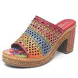 Laura Vita HECALO21Orange - Zapatos para mujer, piel sintética, Rojo (rojo), 36 EU