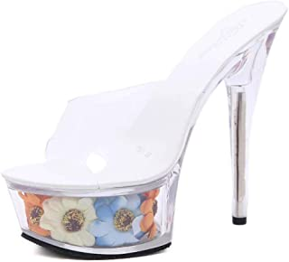 Women's Flowers PlatformSandals,Summer Candy Colors OpenToe Sandals,for Weddings, Bridal Shoes, Prom, Parties, Club