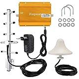 Tosuny Handy-Signalverstärker, GSM-Handy-Signalverstärker, Verstärker-Booster Repeater Innenantennen-Set für Hotel-Einkaufszentren, Villen(EU)