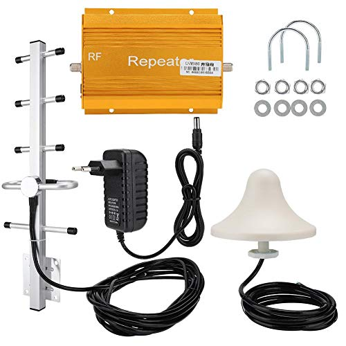 Amplificador de señal de teléfono Celular, Amplificador de señal de teléfono móvil gsm, Amplificador Amplificadores Repetidor Conjunto de Antena Interior para centros comerciales, Villas(UE)
