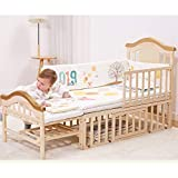 BabyTeddy® 11 in 1 Multifunctional Forest Theme Crib, Cot, Toddler Bed, Rocker,Convertible Desk