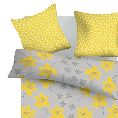 SoulBedroom Cressida 100% Coton Parure de lit (Housse de Couette 200x200 cm & 2 Taies d'oreiller 65x65 cm)