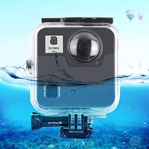 PULUZ GoPro Fusion対応ハウジング GoPro対応防水ケース GoPro Fusion用防水ケース GoPro専用ハウジング GoPro用ダイビングケース 防塵 耐圧 バックル&ベーシックマウント&ネジ付き 取付け簡単 45m水深ダイビング/シュノーケリング/水泳などの水中活動に最適 (GoPro Fusion用)