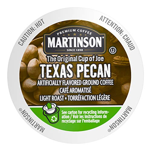 Martinson Single Serve Coffee Capsules, Texas Pecan, Compatible with Keurig K-Cup Brewers, 24 Count