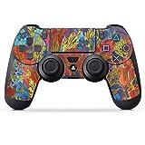DeinDesign Skin kompatibel mit Sony Playstation 4 PS4 Controller Folie Sticker Kunst Rose Herbst