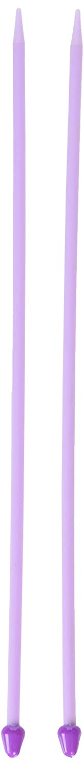 Creative Converting 32410 10-06006 6/4mm Single Point Plastic Knitting Needles, 10