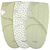 Swaddle Blanket for Baby, Newborn Boy or Girl Adjustable Sleepsack, Unisex, Organic Cotton Swaddle Wrap Set 3 Bags in Pack for Infant, Soft Blankets with Baby Hat