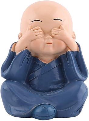 home decoration item Thinking Generation Box Colorful 4 Monks Buddha StoneFigurines (Standard Size, Multicolour)