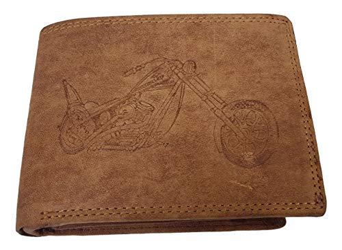 Echt Büffel-Leder Motorrad Geldbeutel Harley II Rustikal AS von Einkaufszauber