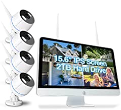 Cromorc All-in-one Wireless Security Camera System with 15.6