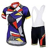 HXTSWGS Maillot de Ciclismo para Mujer de Secado rápido, Conjunto de Ropa para Deportes al Aire Libre, Camiseta y Pantalones Cortos para el Verano