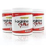 #1 L-Arginine Plus® Official Formula - Raspberry Flavor 3-Pack, Better Blood Pressure, Cholesterol, Energy, Muscle Development & More - #1 L-arginine Supplement - 3 Bottles of Popular Raspberry Flavor