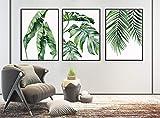 123 Life Wandkunstdrucke mit Palmblättern,