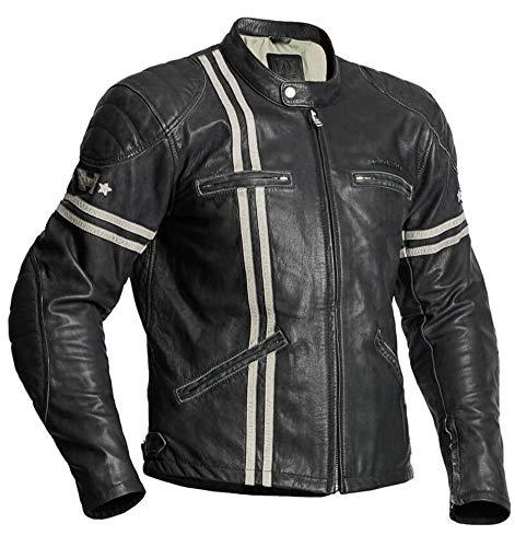 Halvarssons Motorradjacke Dresden Jacket Men Lederjacke Ziegenleder Jacke, 54