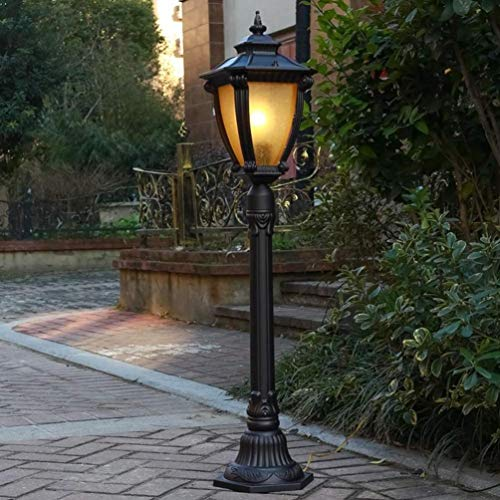 Luz de poste 1,1 m de altura al aire libre Jardín poste de la lámpara externa victoriano Luz Pilar impermeable linterna Estaca luz paisaje Camino Camino cerca de la yarda del anuncio del bolardo de la