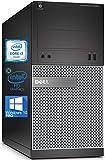 Dell Optiplex 3020 Mini-Tower Desktop PC, Intel Quad-Core i7-4770S Upto 3.90 GHz, 16GB RAM, 256GB SSD, AMD Radeon R5 340 2GB, DVD, DisplayPort, DVI, HDMI, Wi-Fi, Bluetooth - Windows 10 Pro (Renewed)