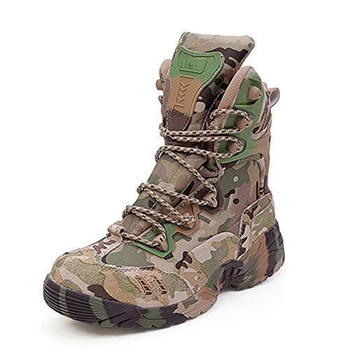 Hombres Camuflaje Delta Botas Militares, Botas Combate Táctico Botas Zapatos Cargadores Los Hombres Al Aire Libre para Practicar El Senderismo Caza Trabajo Formación Ejército Combatir,44EU
