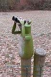 Deko-Impression Zaunfigur Zaunhocker Gartendeko witziger Frosch m. Fernglas 16cm