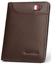 WILLIAMPOLO 財布 メンズ 二つ折り 本革 小銭入れなし 薄い 札入れ シンプル 小さい うすい 296