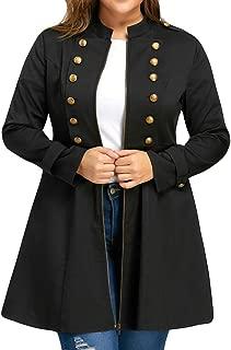 Winter Jacket for Women, Women Fashion Plus Size Vintage Coat Double Breasted Flare Windbreaker Outwear Daorokanduhp
