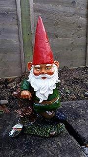 Garden Gnome leaning against Ceramic