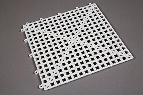 Dri-Dek Marine Surface - 1'x1' Interlocking Tiles - Boat Storage Compartment, Anchor Dry Locker Liner & Deck Flooring (White, 1'x1' Tiles - 50-Pack)