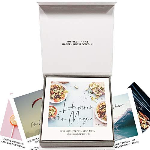 30 bonów dla par w pudełku na prezent – romantyczny prezent dla przyjaciela, przyjaciółki, żony i mężczyzny na urodziny, rocznicę, walentynki, rocznicę ślubu, prezent na Wielkanoc
