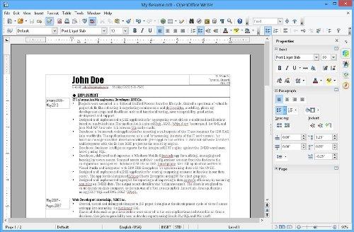 Apache Open Office 4.0.1 (Mac)