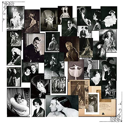 Old Hollywood Photos Paper Stickers Kits Die Cut For DIY Scrapbooking Junk Journal TN Planner Photo Album Sticker Card Making