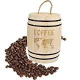[page_title]-Kaffeedose Luftdicht mit Deckel Holz Kaffeebohnen luftdichter Behälter für Kaffeebohnen Kaffeepulver Tee Kakao Nahrungsmittel, 17.5 x 11.5 cm