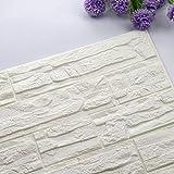 3D Tapete, Selbstklebend Steinoptik Wandpaneele Wandaufkleber Wandtattoo Wand Dekor Aufkleber 3D Ziegel Tapete für Schlafzimmer Wohnzimmer Küche Wanddekoration, 60x30 cm