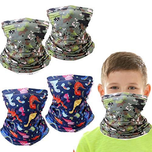 Kids Neck Gaiter Balaclava, Summer UV Protection Face Cover Bandana, Green Mask Toddler Half Face Protective Reusable Infinity Scarf, Gifts For Girls, Headwear For Fishing, Cycling, Hiking